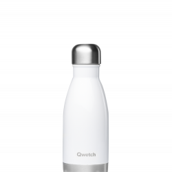 Bouteille isotherme inox Blanc - 260 ml