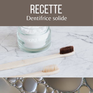 Recette dentifrice solide maison