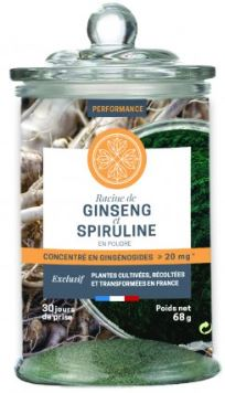 Performance Ginseng Spiruline pour booster les performances sportives
